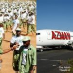 UPDATE !!!: (video) – Corps members traveling to orientation camp by flight seize Azman Air's laptops and other valuables